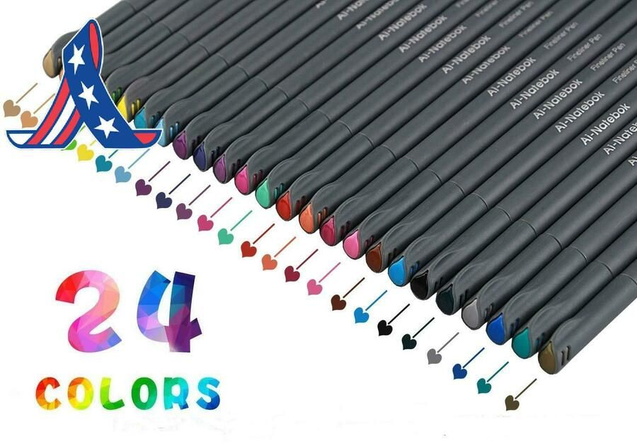 Taotree 0.38Mm Colored Sketch Drawing Pen Fineliner Color Pen Set Porous Fine