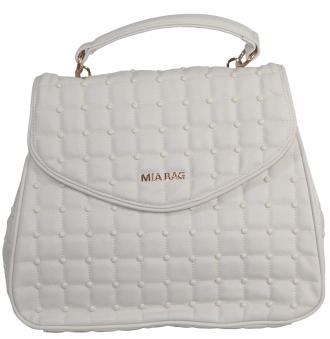 Borsa trapuntata a mano firmata mia bag disponibile su www.manida.it o nei nostri store - colore bianco