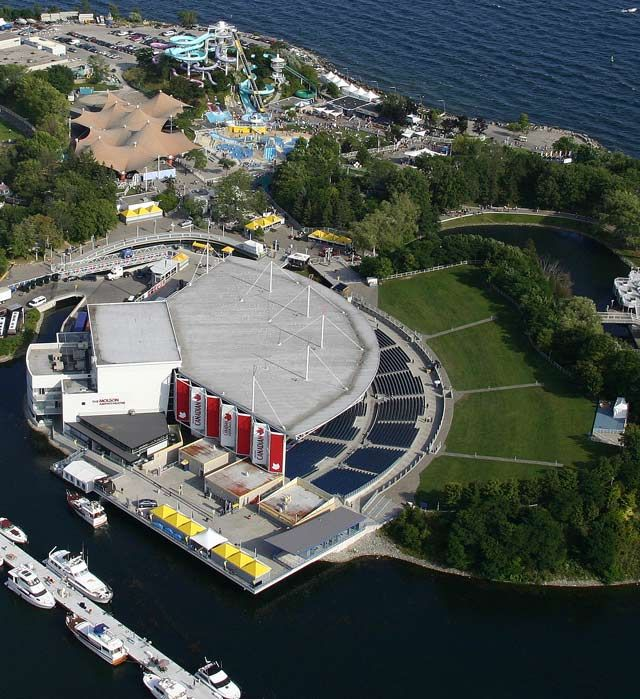 Architecture Urban The Molson Amphitheatre Helicopter View Ontario Place Amphitheater Canada Pictures