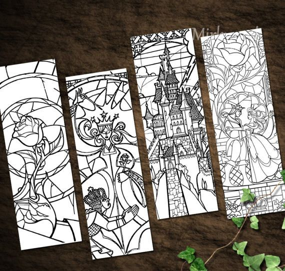 Beauty And The Beast Stained Glass Bookmarks By Mirkwoodscribes Beauty And The Beast Art Beauty And The Beast Crafts Disney Stained Glass