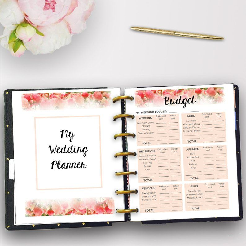 Wedding Planner for Happy Planner Classic, Printable