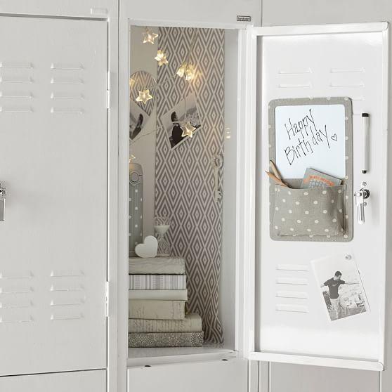 Preppy Diamond Grey Locker Wallpaper, 3 Sheets School