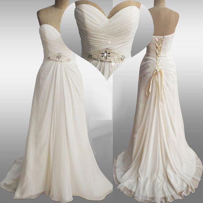 sale.chiffon Sweetheart Neckline Raised Waistline Sheath Wedding Dress