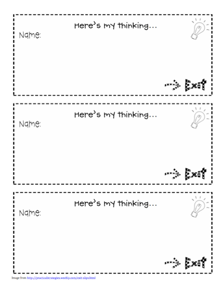 classroom exit ticket template.html
