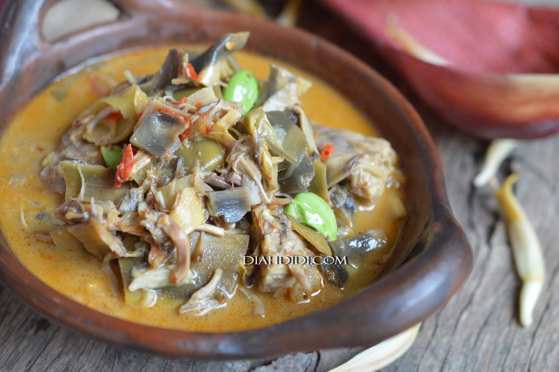 Lodeh Jantung Pisang Resep Masakan Makanan Dan Minuman Resep Masakan Indonesia