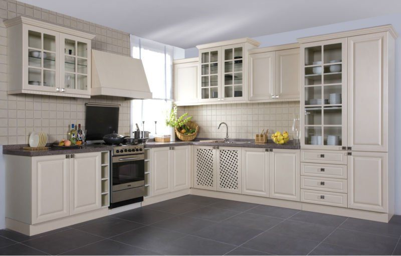 Classic Kitchen Styles euro style classic white pvc kitchen cabinet | homey | pinterest