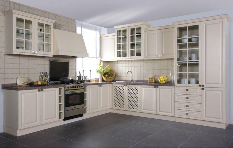 euro style classic white pvc kitchen cabinet | homey | pinterest