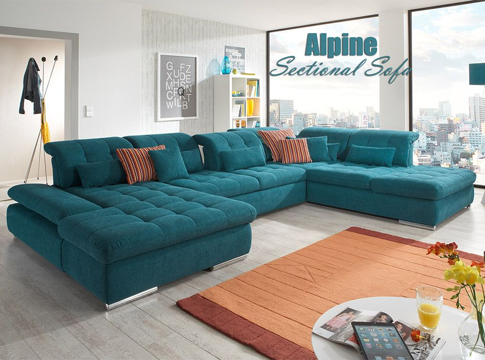 Alpine U Shape Sectional Sofa Bed By Nordholtz 5 595 Zoby