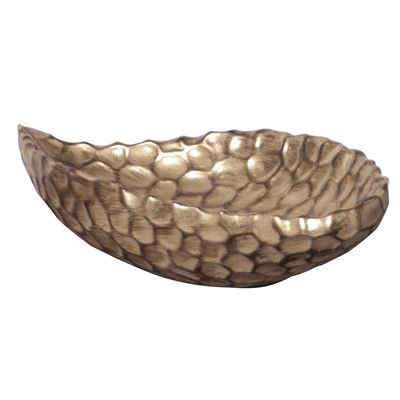 Gold Decorative Bowl Bay Isle Home Antique Gold Decorative Bowl  Products