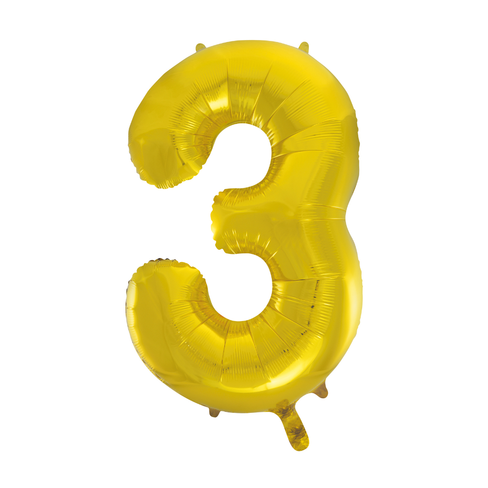 Jumbo Gold Foil Balloon Number 3 Partybell Com In 2020 Gold Foil Balloons Foil Number Balloons Foil Balloons