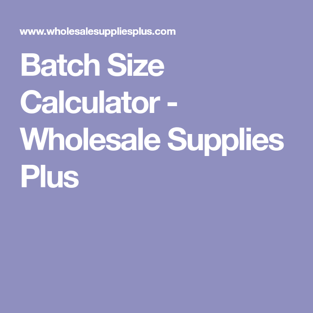 Batch calculator get ingredient weights from percentages.