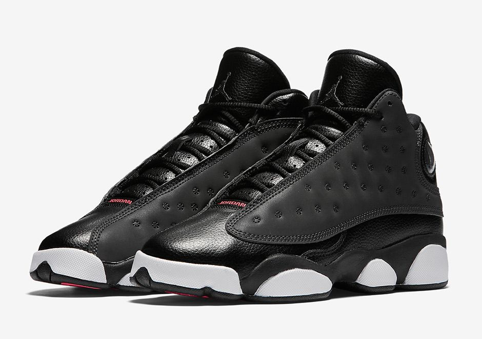 Kid's Nike Air Jordan 13 XIII Retro (GS/GG) Black Hyper Pink White Sneakers : B61a4032