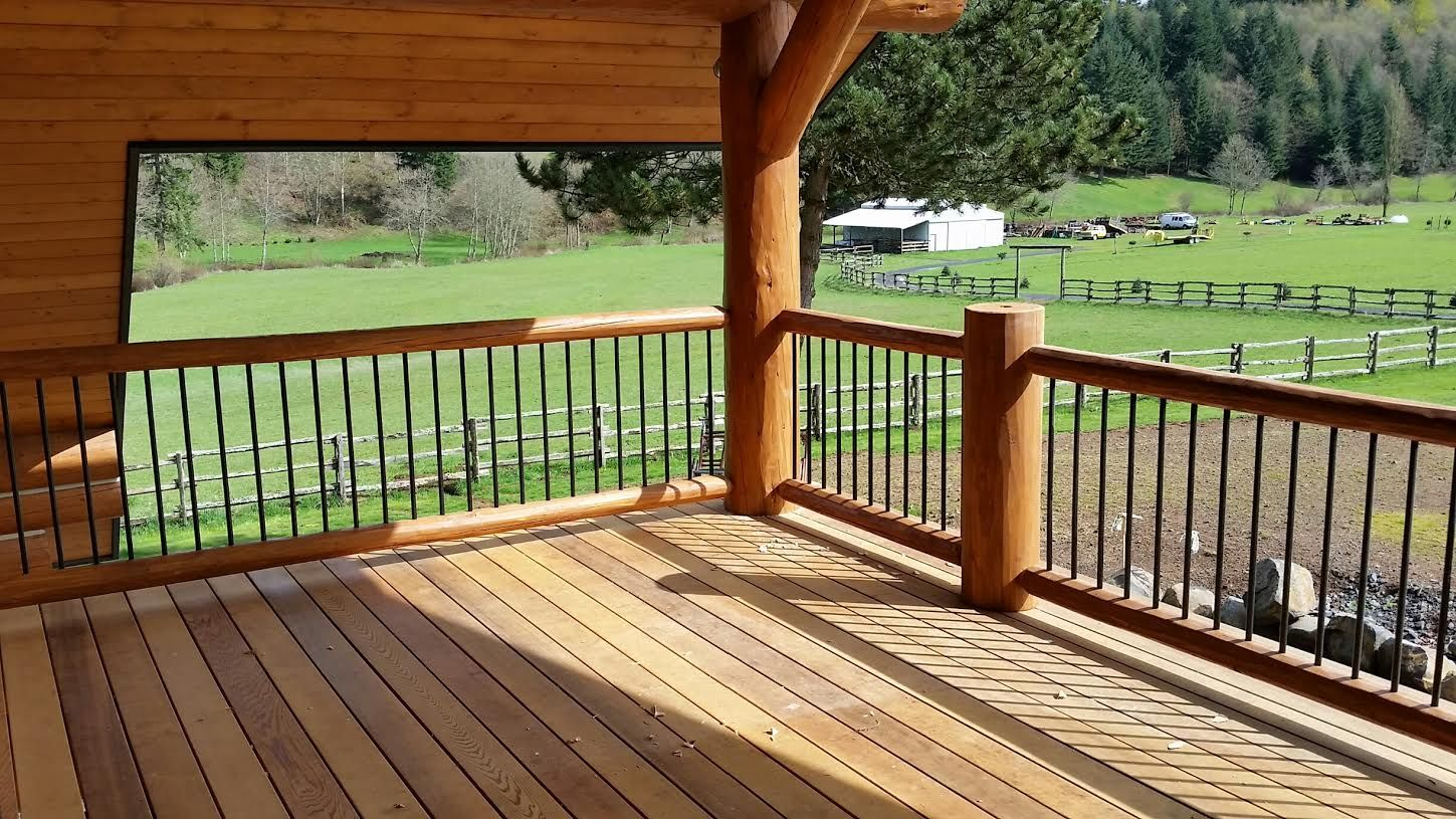 Best Hybrid Log And Metal Railings See More At Thelogdepot Com 400 x 300