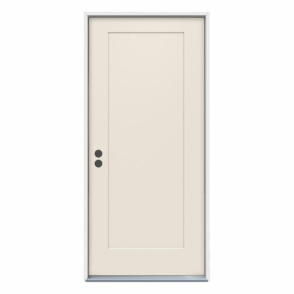 Jeld Wen 36 In X 80 In 1 Panel Craftsman Primed Steel Prehung Right Hand Inswing Front Door Thdjw166100375 Jeld Wen Interior Doors Door Design Interior Traditional Doors