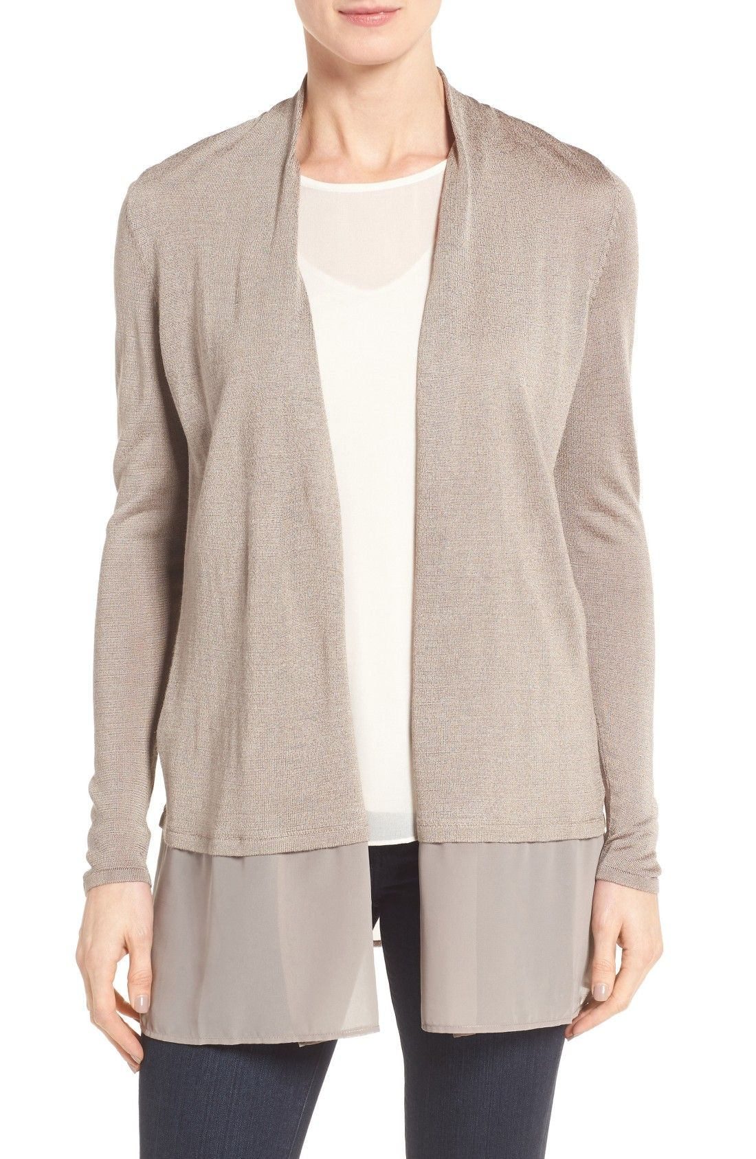 NIC ZOE Chiffon Trim Cardigan Online Cheap | Women's Work Clothing ...