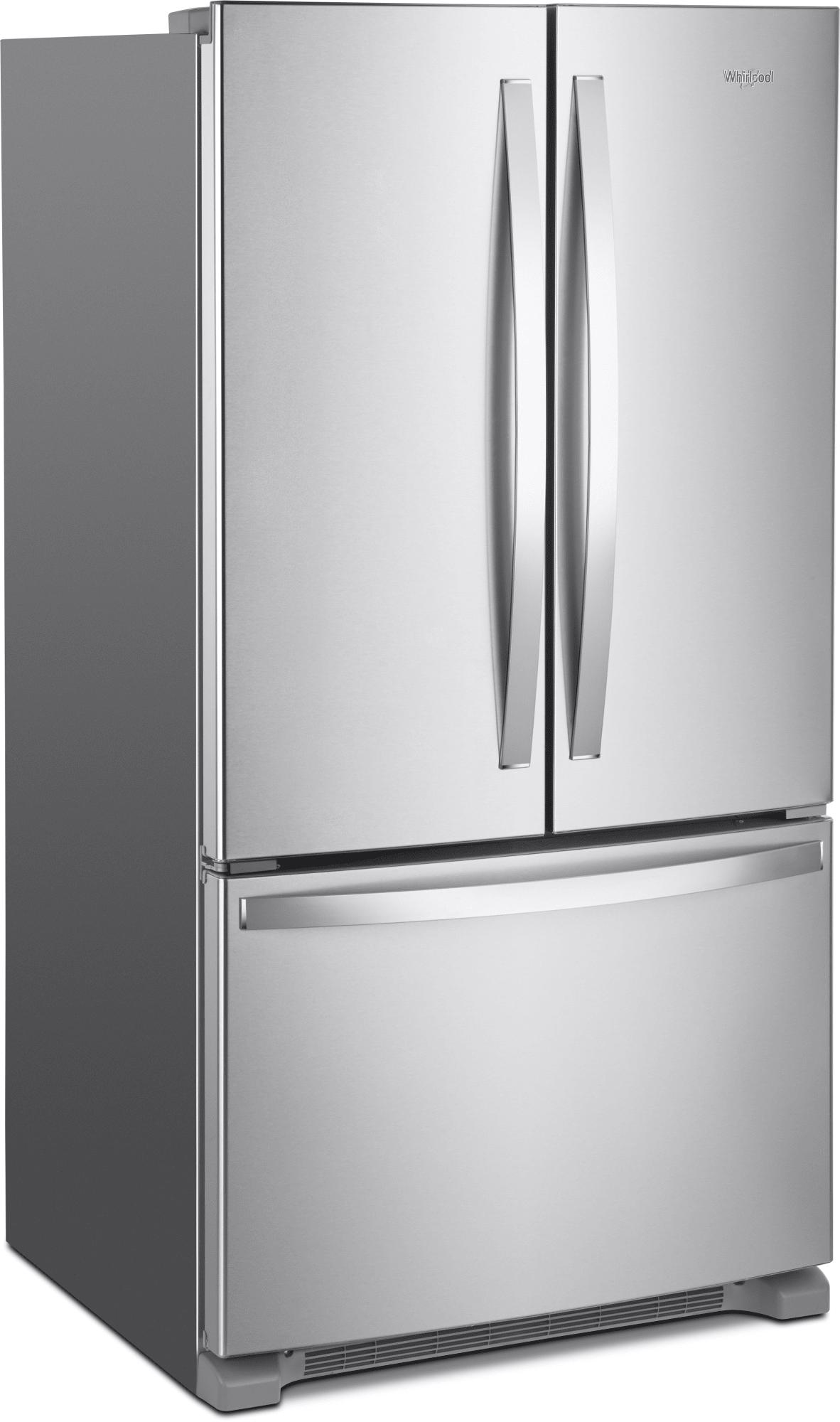Whirlpool Wrf535swhz 36 Inch French Door Refrigerator With Interior Water Dispenser Everydrop Filter Temperature Controlled Drawer Freshflow Crisper Adjus French Door Refrigerator Glass Shelves French Doors