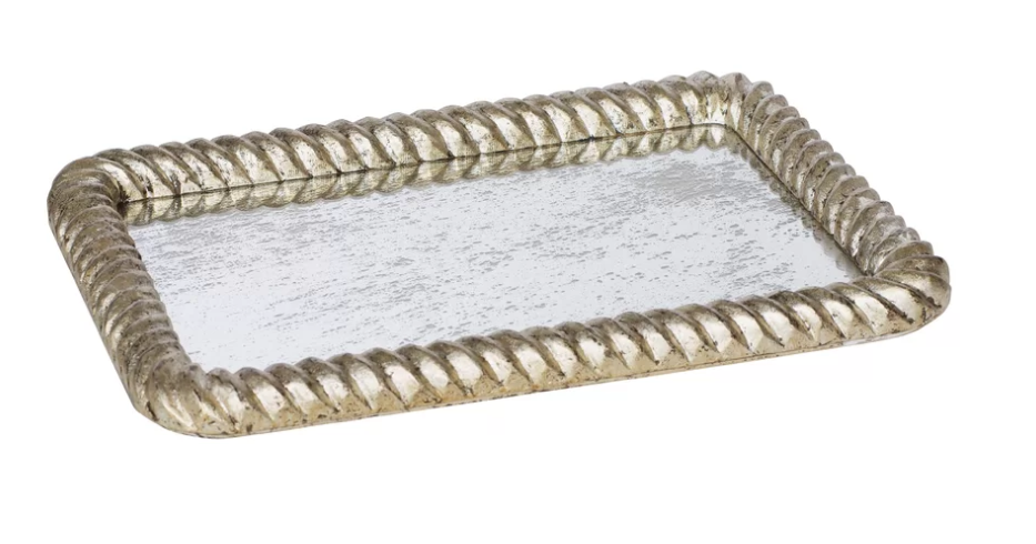 Leaf Wave Accent Serving Tray Accent Tray Tray Rope Frame