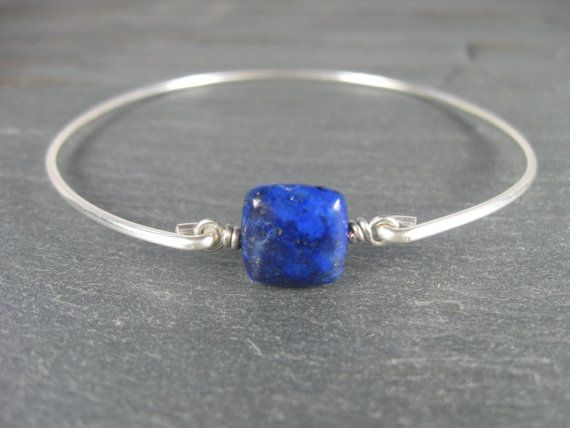 Silver Lapis Lazuli Bracelet Lapis Bracelet Silver by BaubleVine, $16.95