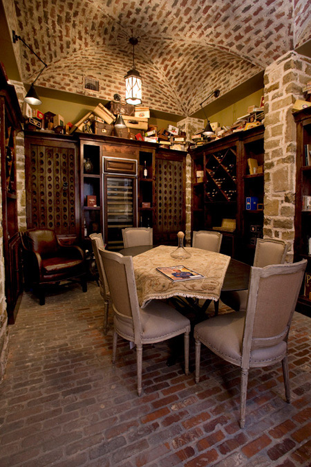 Rustic Brick Wine Cellar With Groin Vault Ceiling In 2020 Basement Ceiling Home Wine Cellars Wine Cellar Basement