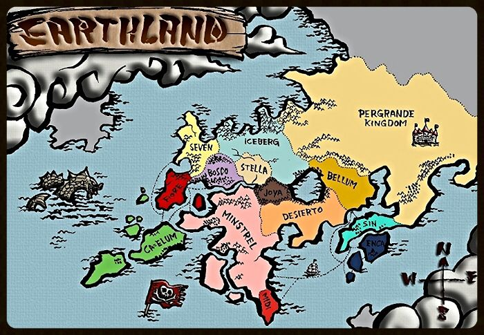 World Map Nakama Pinterest Fairy Tail Fairy Tail Characters