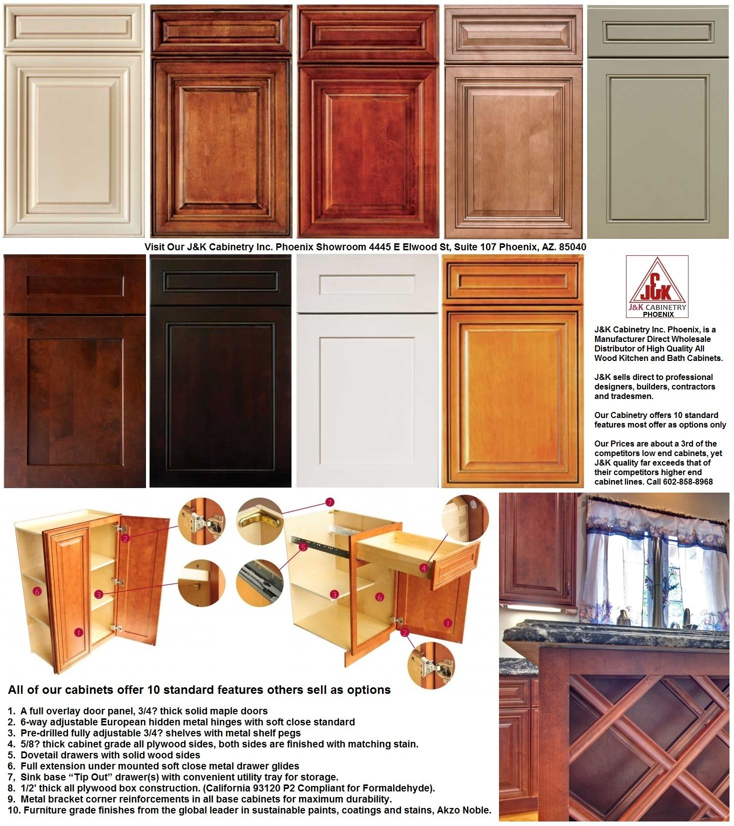 Wholesale Kitchen Cabinets in Phoenix Stocking Manufacturer Direct ...