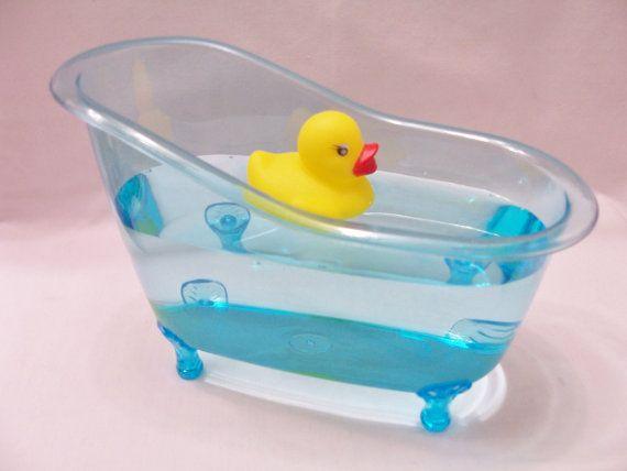 Blue bathtub table centerpiece/favour - party table decor - baby ...