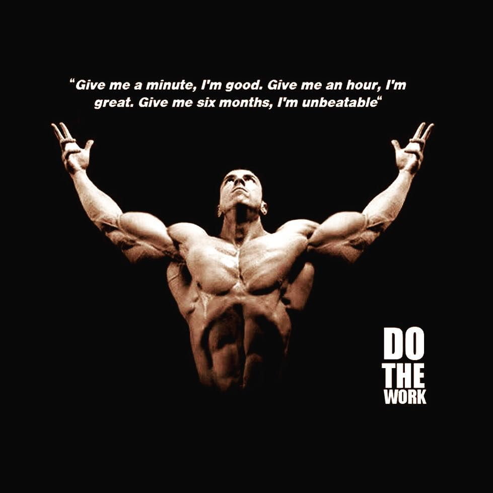 """Give me a minute I'm good Give me an hour I'm Great Give me Six months I'm unbeatable"" #berevs #bodybuilding #bodybuildingmotivation #bodybuildingcom #bodybuildingtshirts #fitnessmotivation #fitness #bodybuildingmotivationalquotes #aestheticbodybuilding #bodybuildingtips"