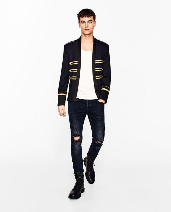 LINEN BLAZER WITH TOGGLES from Zara | Cosas para ponerse
