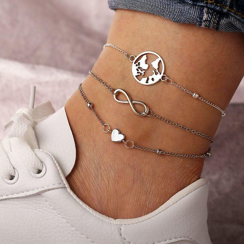 EPlating Plain Sweet Anklets Anklets is part of Anklets, Anklet designs, Cute anklets, Foot chains, Fashion jewelry, Gold filled jewelry -  Type Anklets Material Alloy Technic EPlating Pattern Plain Style Sweet Gender Female Applicable User Adult @@768368