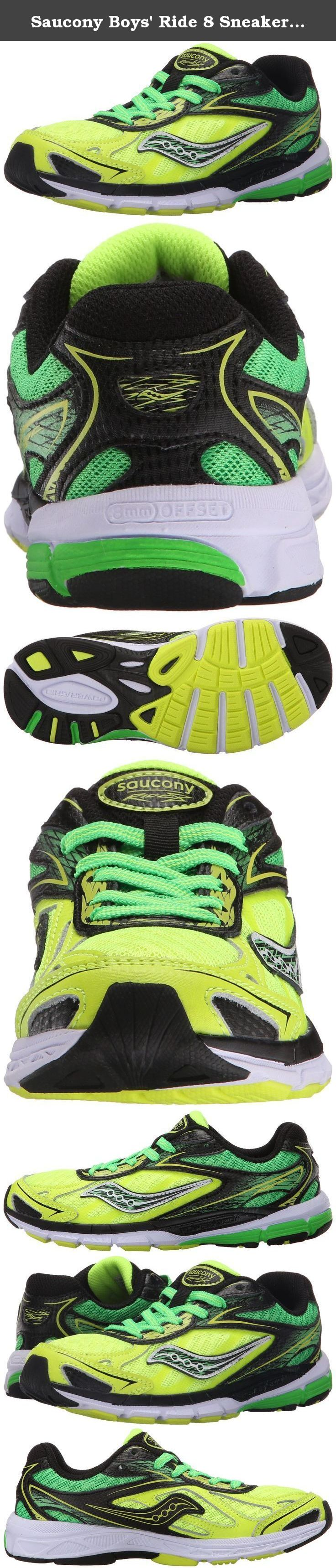 Saucony Boys' Ride 8 Sneaker (Little Kid/Big Kid). Want the best in running technology for your 5k or track running kid? The Saucony Ride provides the best features and benefits from the Adult Saucony Ride, but in kid right colors.
