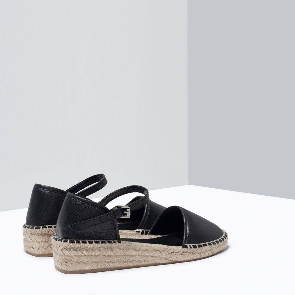 ZARA - SHOES & BAGS - LEATHER DORSAY SANDALS