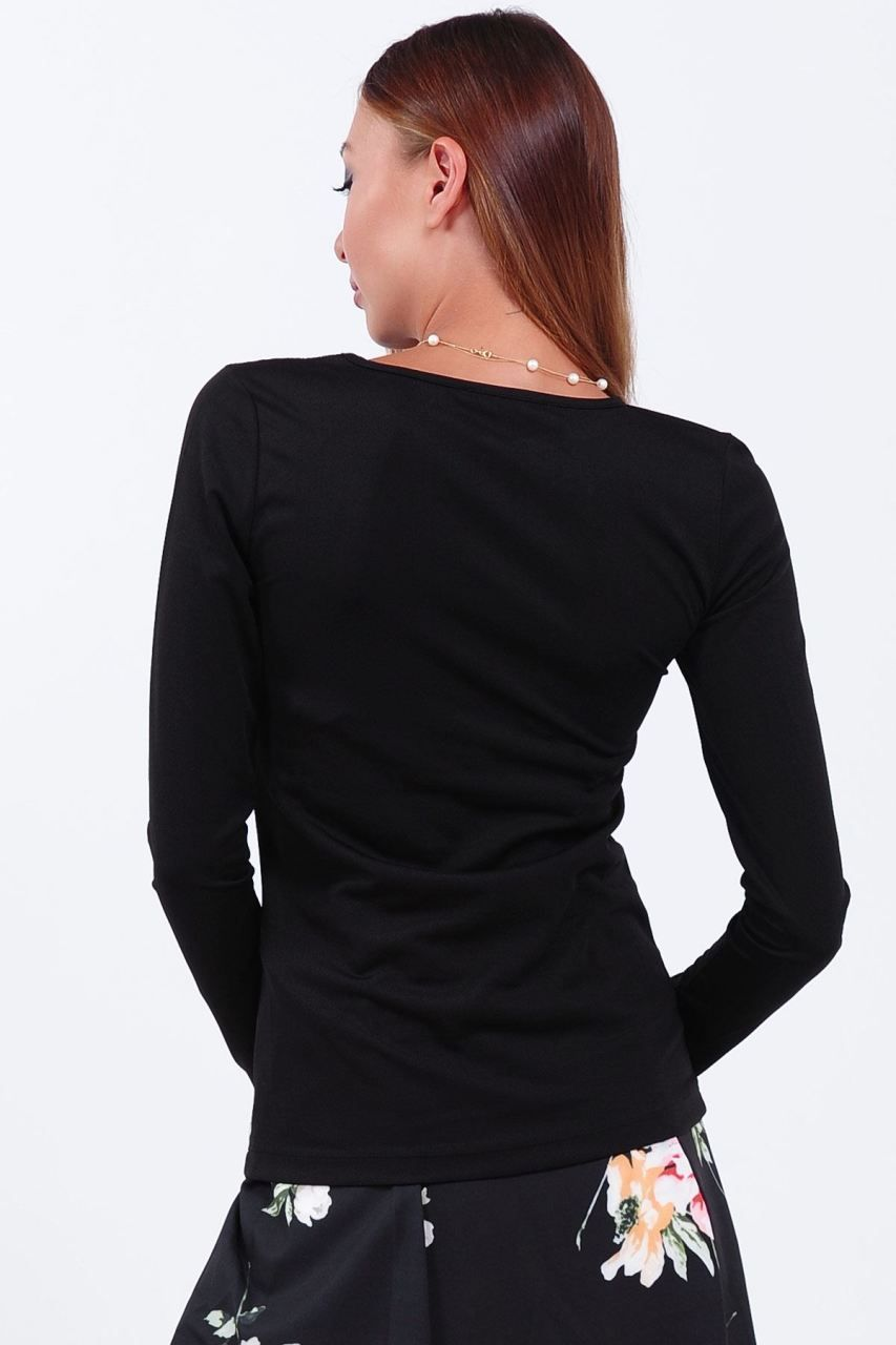 Omuz Yaka Tul Detay Siyah Bluz Giyim Indirim Kampanya Bayan Erkek Bluz Gomlek Trenckot Hirka Etek Yelek Mont Kase Kaban El Siyah Bluz Bluz Moda