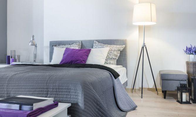Dormitorio en gris y blanco Decoración Pinterest Gris
