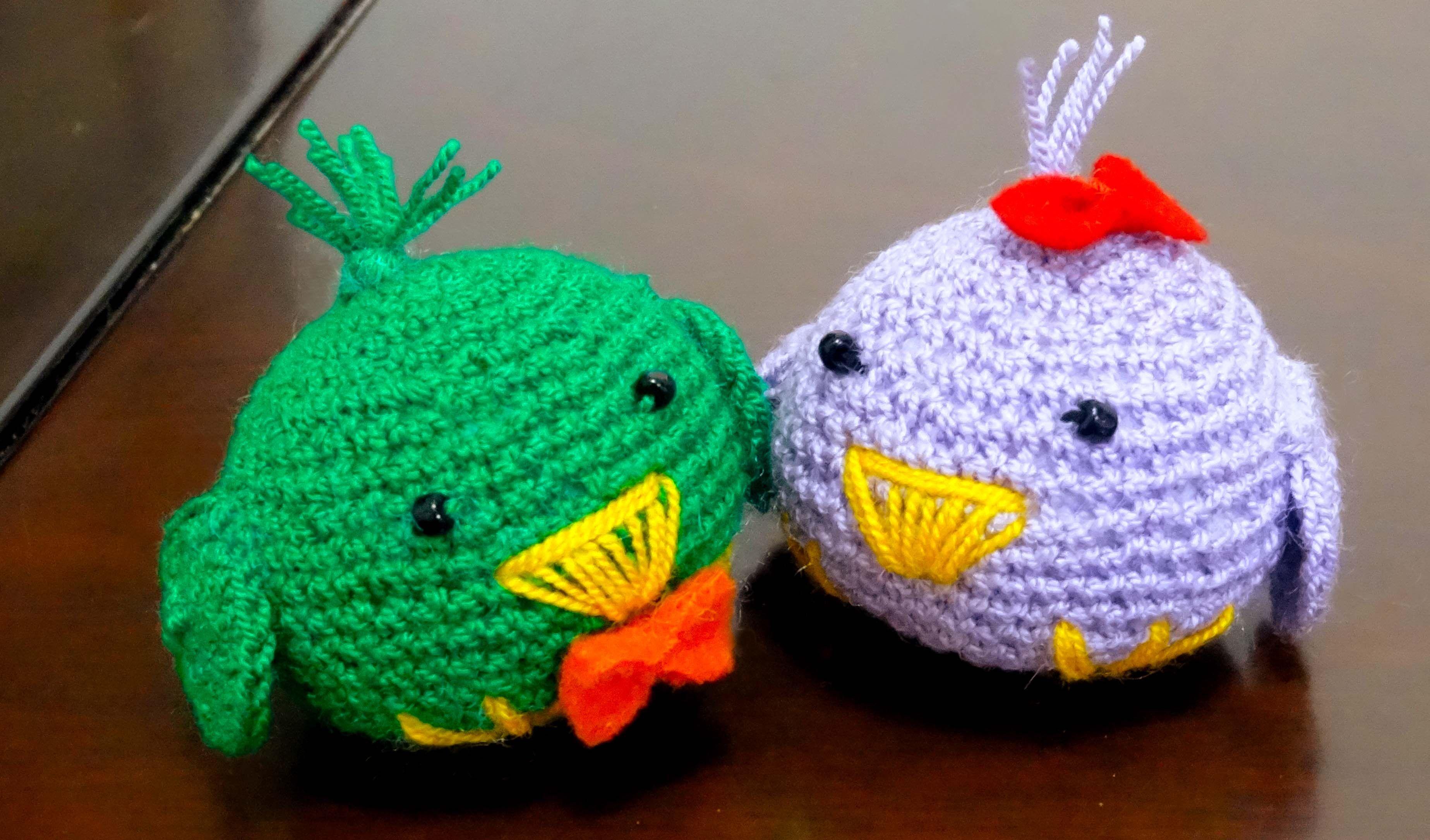 pollitos en crochet