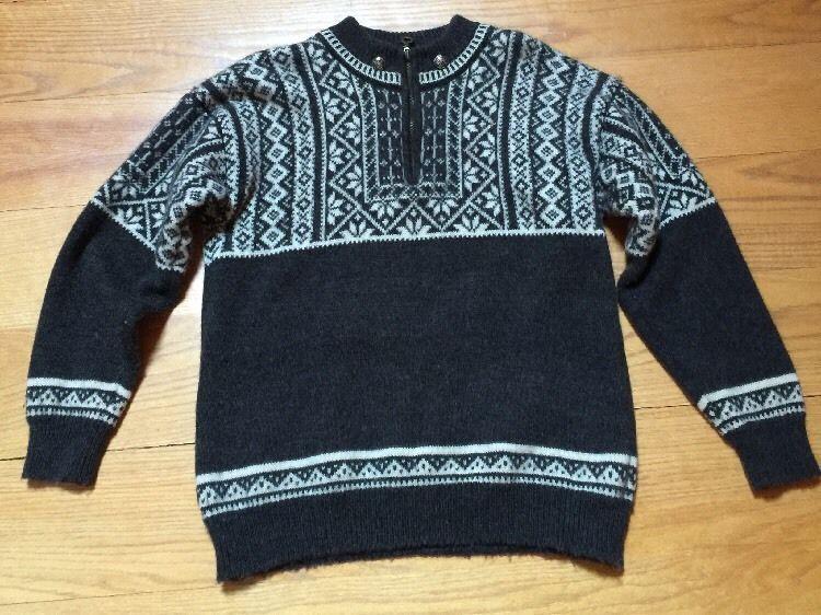 Christiania Sweater Norway Nordic Argyle Wool Women's Small | eBay ...