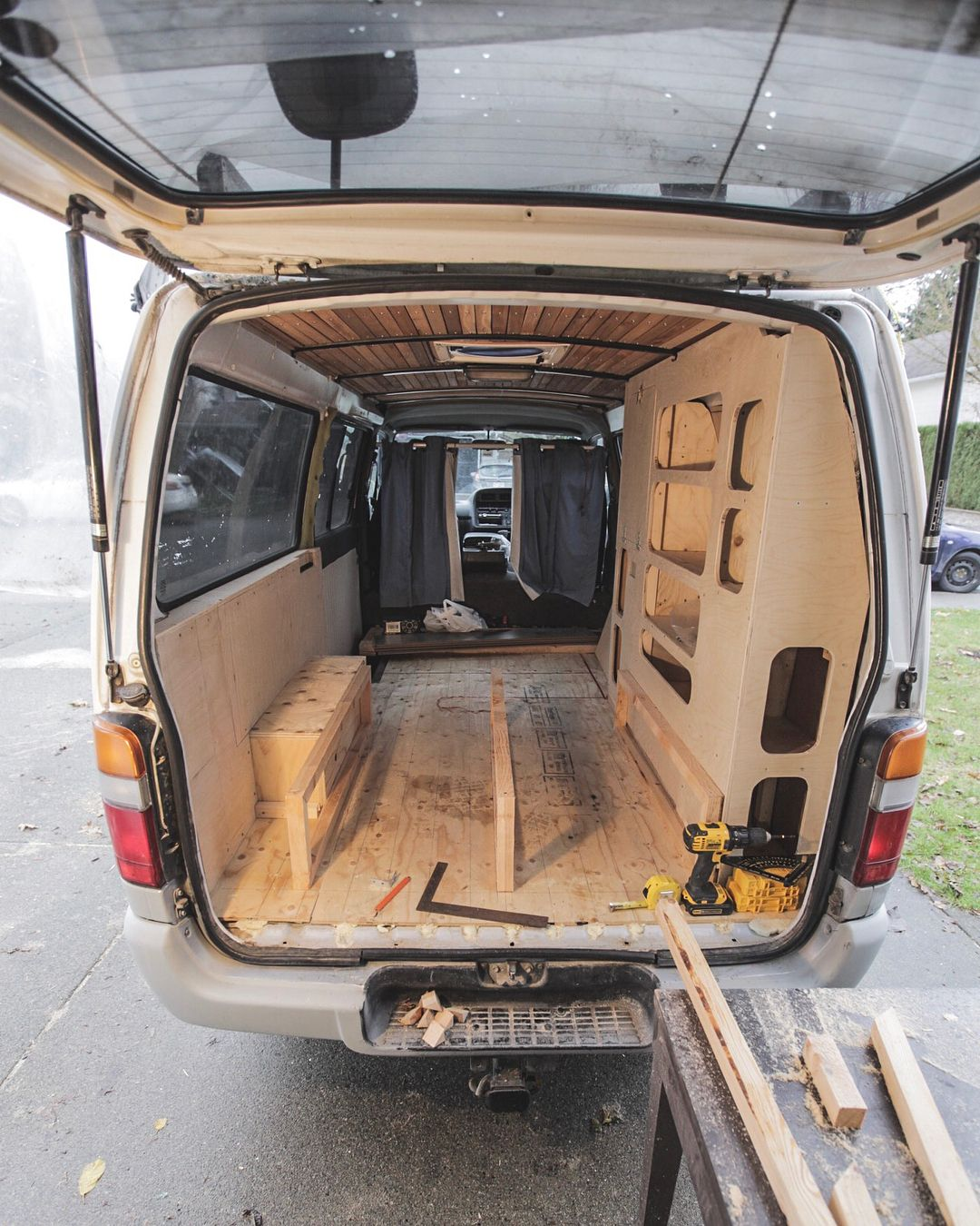 No photo description available  | #VanLife | Steel bed frame