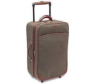 "Hartmann Wings Diamond Cognac 22"" Expandable Mobile Traveler Wheels Carry On NEW"