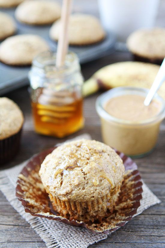 Peanut Butter, Banana, and Honey Muffins | Recipe | Bread | Brunch