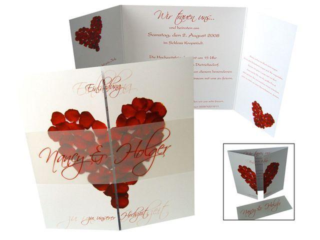 Einladungskarten Hochzeit+ +Aussergewöhnlich