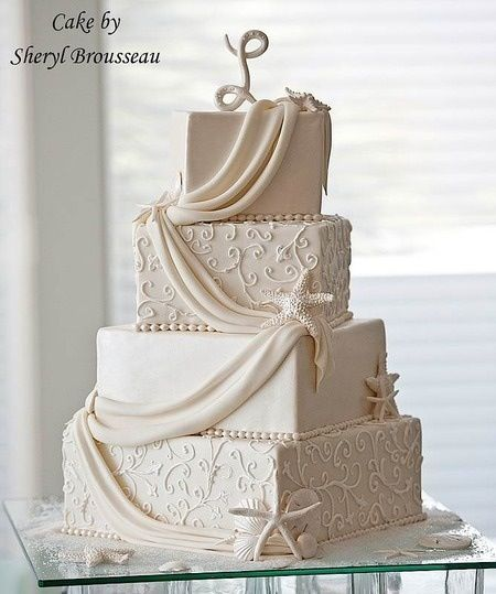 Beautiful And Unique Beach Themed Wedding Cakes With Images
