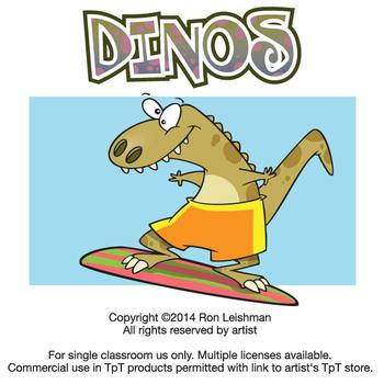 Cartoon dinosaur clipart for teachers
