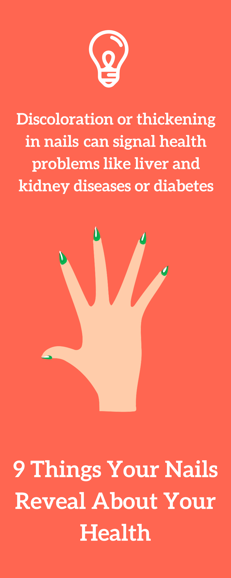 Discoloration Or Thickening In Nails Can Signal Health Problems Likfe Liver And Kidney Diseases Or Diabetes In 2020 Lung Conditions Kidney Disease Nail Health