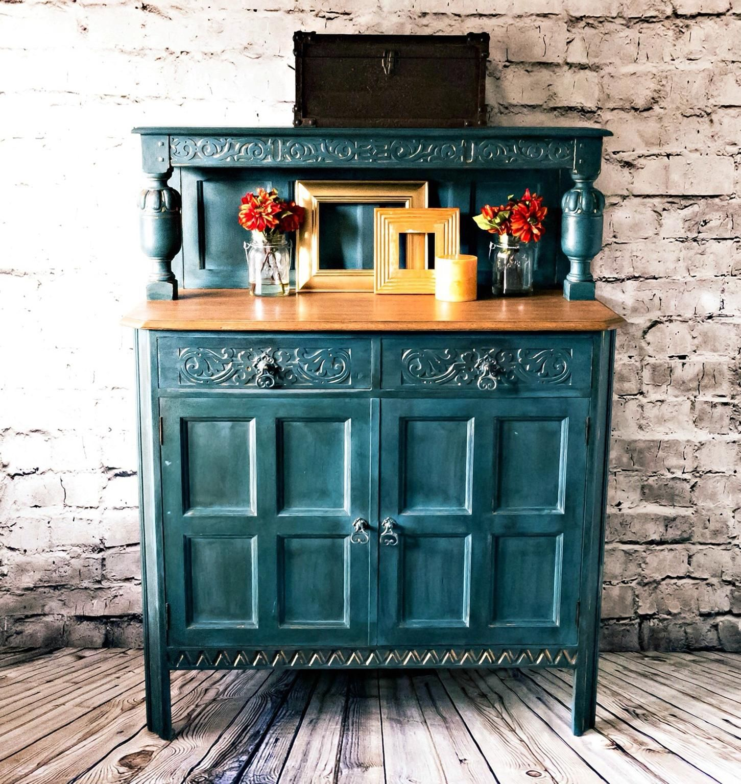 Waring & Gillow Antique Court Cupboard. Painted in a custom blend of ...