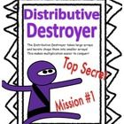 A fun way to learn distributive property! Follow Distributive Destructor Ninja karate chop large arrays and make them smaller!  This Pack Contains:...