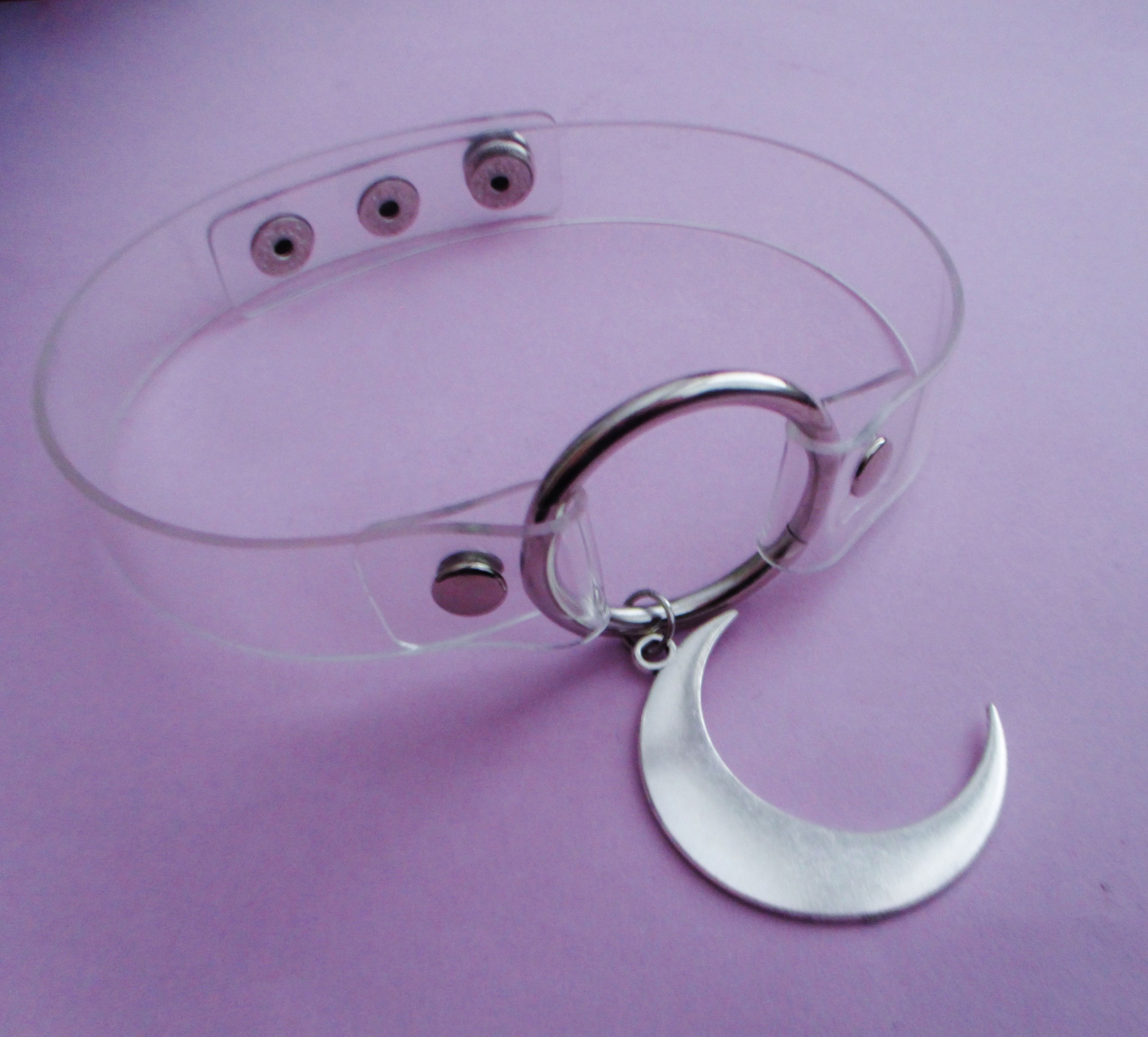 Clear Moon Collar By Ofstarsandwine On Etsy Pastel Goth Grunge Fashion Nu Aesthetic Purple