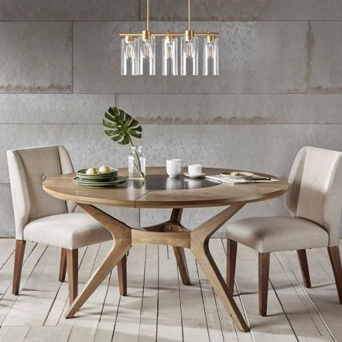 Dining Furniture Ideas : Natual Oak Color Mid Century ...