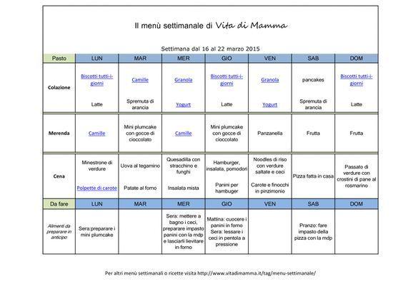 48++ Menu settimanale semplice per bambini ideas