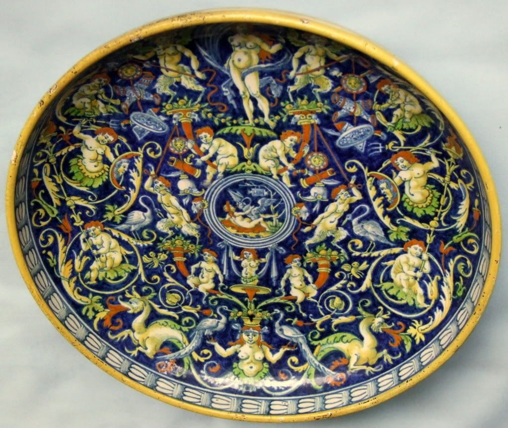 Italian Pottery Marks • View topic - Caffagiolo and Deruta