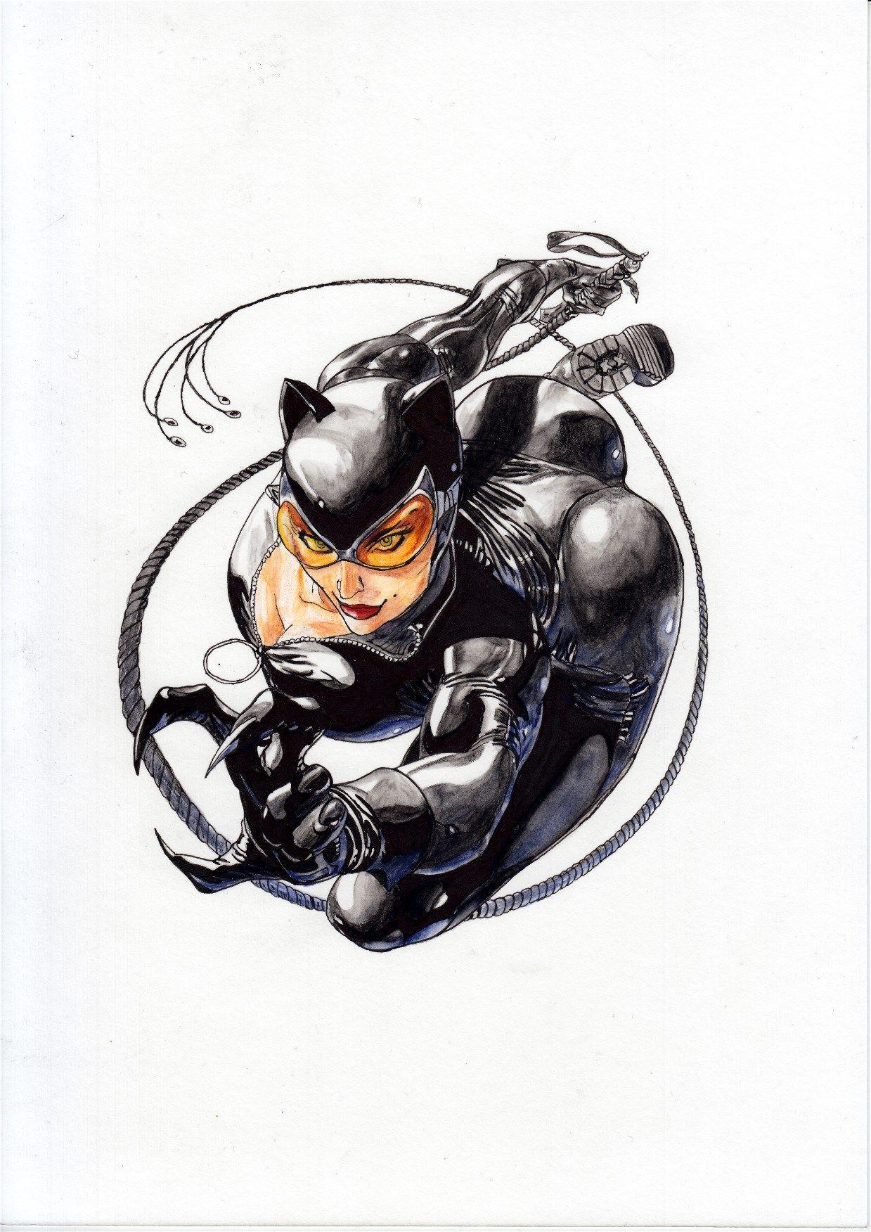 Catwoman (Watercolor) (Acuarela) José Martín