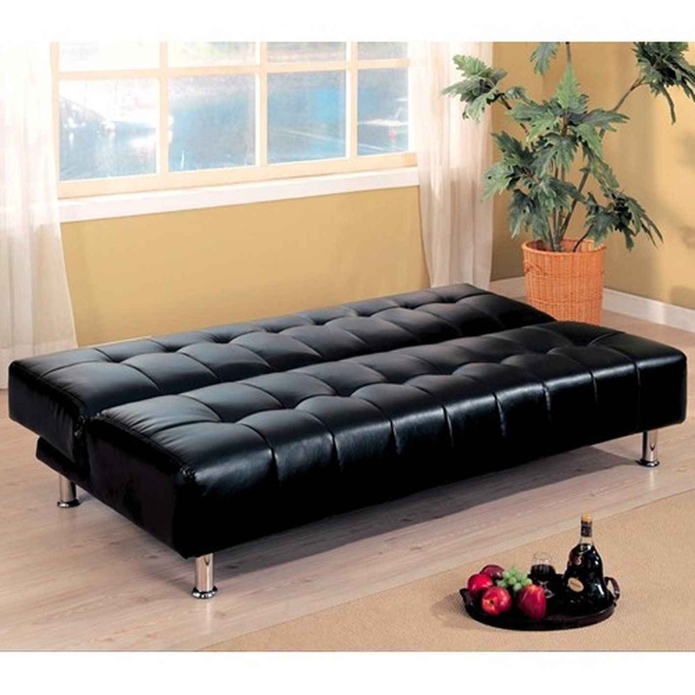 Chesterfield Sofa Best Black leather sofa bed ideas on Pinterest Black leather sofa set Black leather couches and Black couch decor